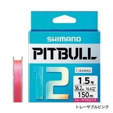 Плетеный двенадцатижильный  шнур SHIMANO PITBULL 12 PE 150m (PL-M52R)