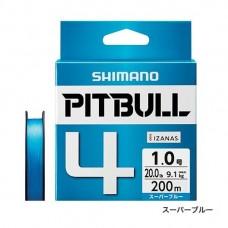 Плетеный четырехжильный шнур SHIMANO PITBULL 4 PE 200m (PL-M64R)