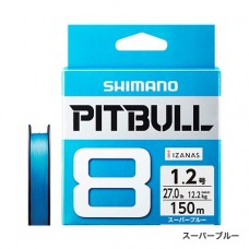 Плетеный четырехжильный шнур SHIMANO PITBULL 8 PE 150m (PL-M58R)