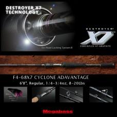 Спиннинг MegaBass F4-68X7 Destroyer X7 CYCLONE ADVANTAGE