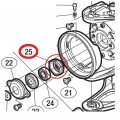 Гайка ротора (Rotor nut for spacer bearing) от Shimano Stella 07/10/14/18 (FE\FD\FI\FJ)